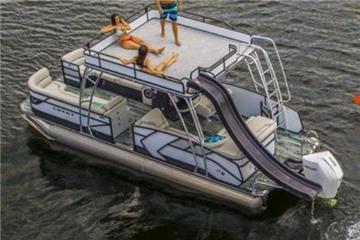 2021 Crest Pontoons Caribbean LX 250L SLIDE Double DECKER